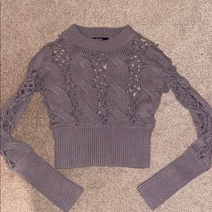 Nasty Gal Mauve Cropped sweater